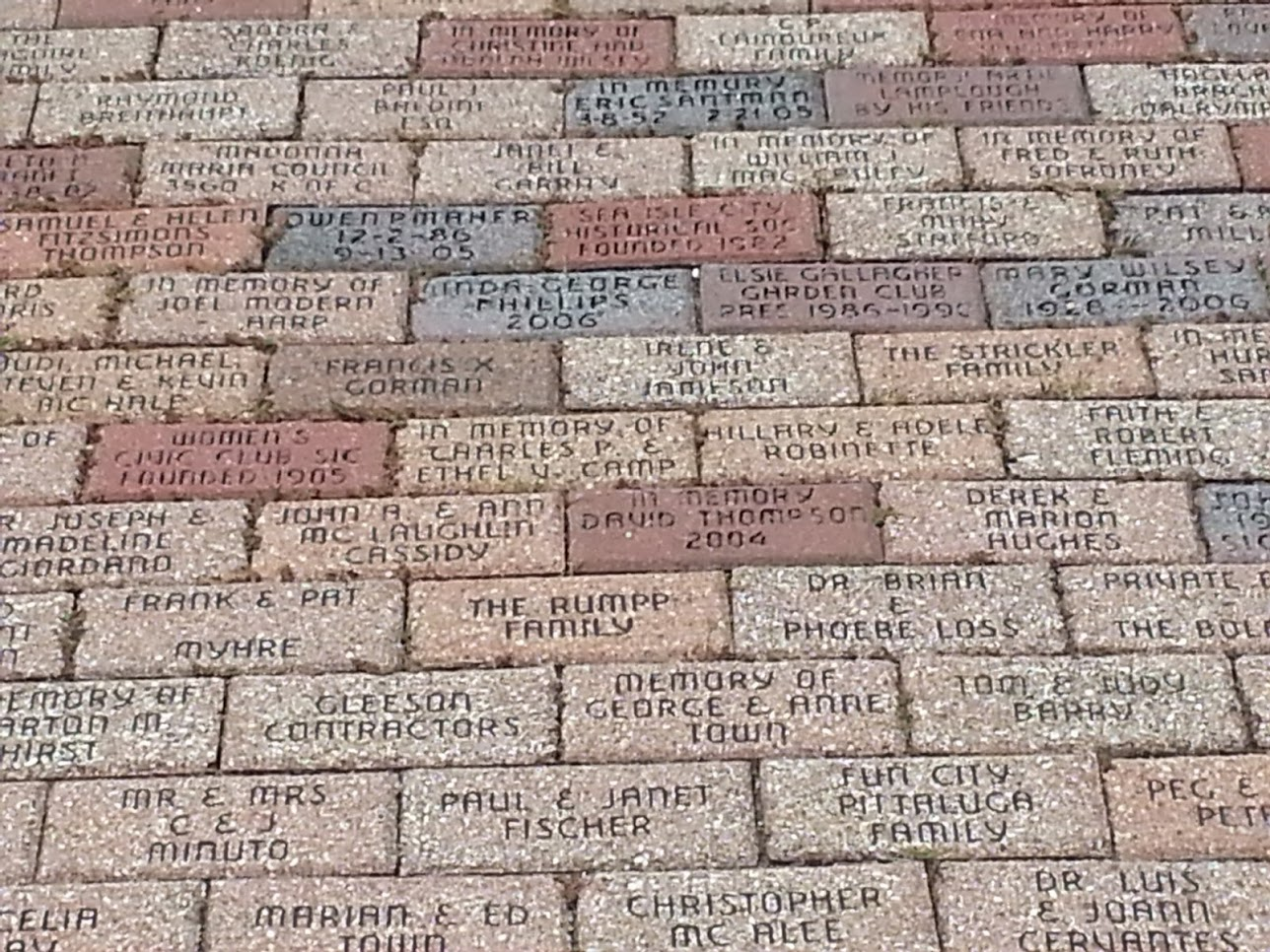 Purchase a memorial garden brick paver to support the museum Sea